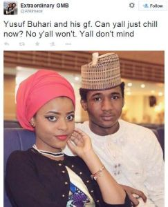 Yusuf Buhari & His Girlfriend2