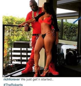Rick Ross shares sexy pic with bikini-clad fiancee