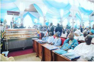 More photos of Buhari, Osinbajo, Tinubu, Amaechi, others at HID Awolowo's funeral......