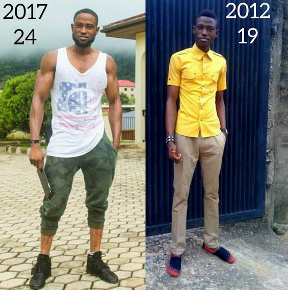 Nigerian fitness trainer shows off his sexy transformation